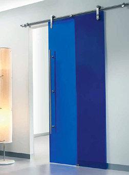 стеклянные раздвижные и распашные двери  14
