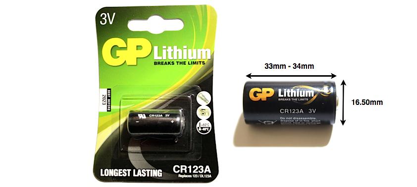 Литиевая батарейка GP CR123A  3v