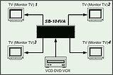 Усилитель сигнала аудио видео  на 4 выхода SB-104AV SEEBEST , фото 3