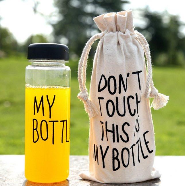 Бутылочка My bottle цветные с мешочком в комплекте.