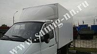 """Обтекатель «GAZelle фургон» №3, рисунок """"Олень"""", 180см, белый"""