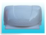 """Обтекатель «GAZelle фургон» №6, надпись """"Corona"""", 200 см,белый"""