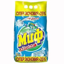 Порошок для автоматических стиральных машин «Миф» 6 кг