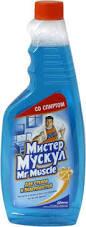 Очиститель стекла «Мистер Мускул» 500 мл (запаска)