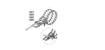 Обойма-зажим и хомут универсальный для труб Ø 124-222 mm, проволока Ø 5-10 mm, серия Platinium
