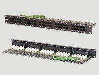 """Eurolan Коммутационная панель категории 3, UTP, 19"""", 1U, 50хRJ45, USOC, 2 пары, черная"""