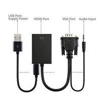 Активный  конвертер / переходник с VGA на HDMI со звуком, фото 1