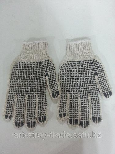 Перчатки х/б с черными точками
