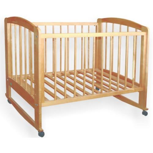 Детская кроватка Катя (бук, орех)