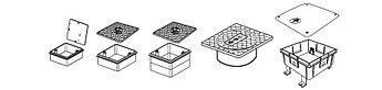 Контрольный колодец (Тестирование), 150x150x50 mm, + твёрдая крышка