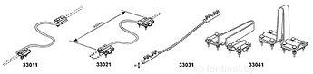 Сочетание смещения (гибкое)  4xM8x10 (x2), проволока Ø 5-10 mm, провод алюминиевый 50 mm² (7x3,0) L=1000 mm, медь/латунь