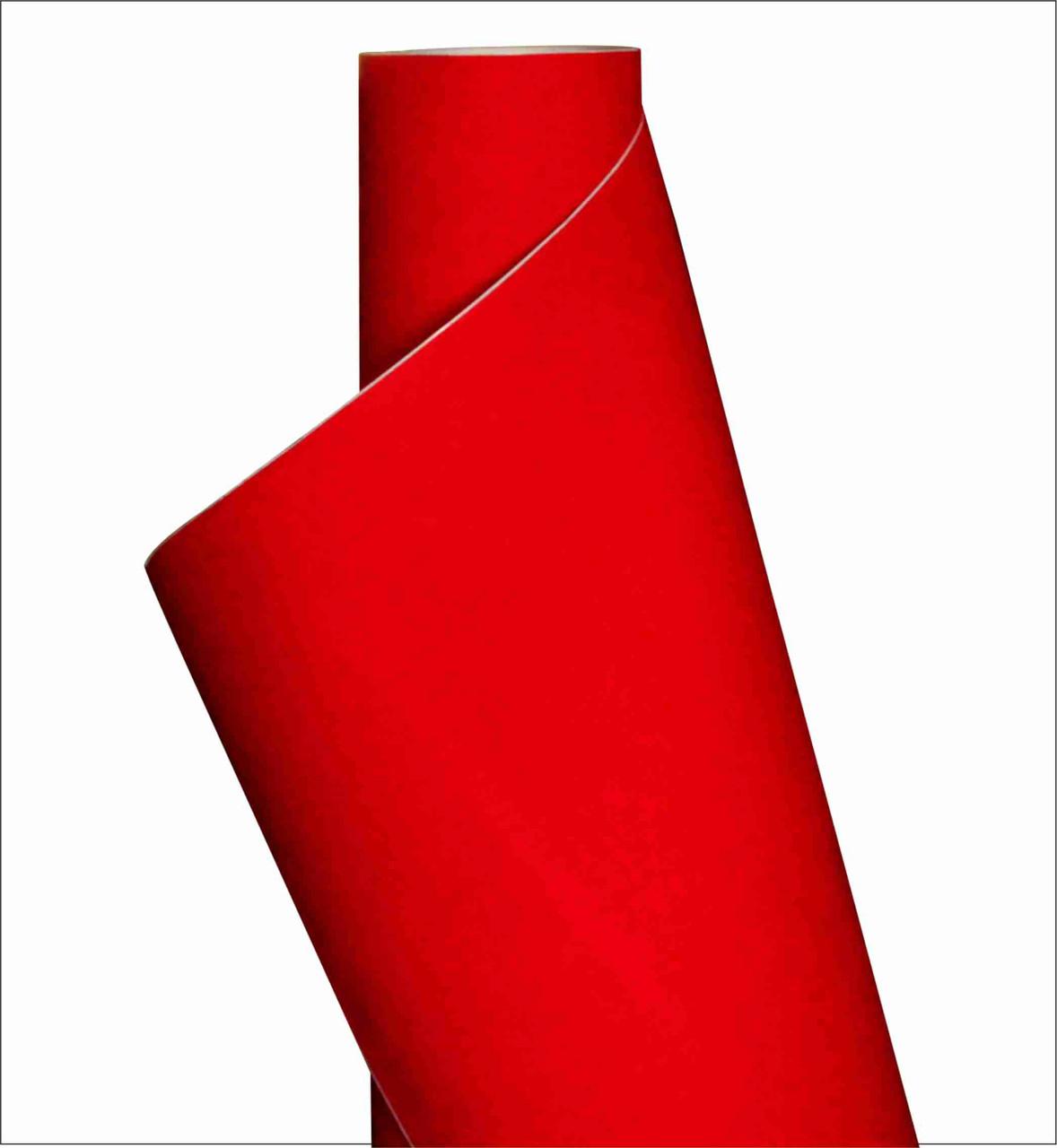 Пленка декор (вельвет красный)