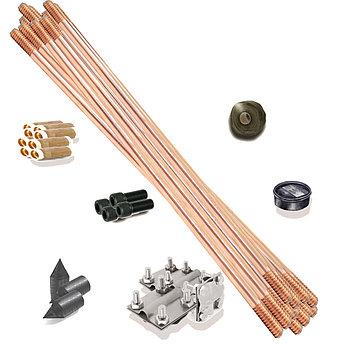 Заземление 4xM8x25, две пластины, B до 40 mm, стержень Ø 14-20 mm, сталь нерж.