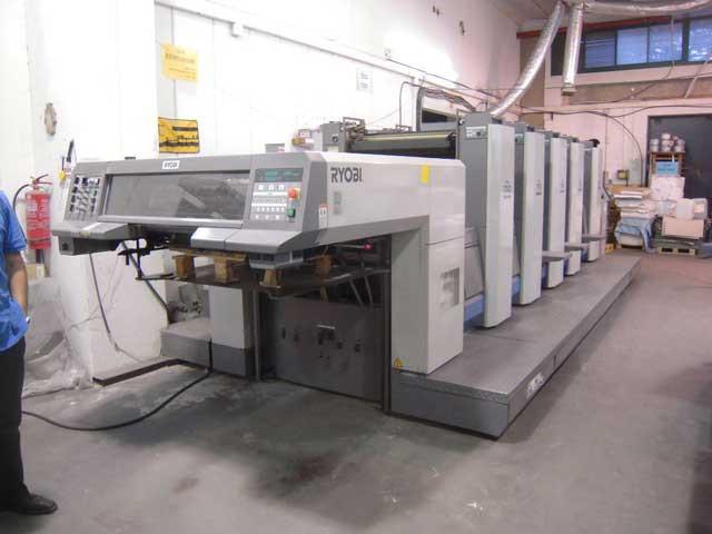 Ryobi 755P б/у 2006г - 5-ти красочная печатная машина