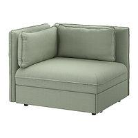 Секция дивана-кровати со спинкой ВАЛЛЕНТУНА зеленый ИКЕА, IKEA, фото 1
