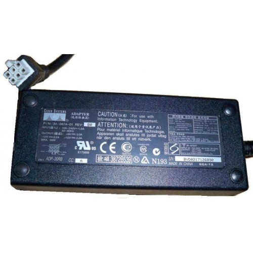 34-0874-01 Блок Питания Cisco (Delta) ADP-30RB Input 100-240V 50/60Hz 1.0A Output +5V/3.0A +12v/2.0A -12v/0.2A 30Wt For Cisco 1700 1710 1720 1721 1751