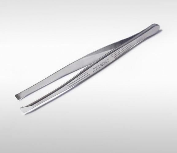 Пинцет для бровей с прямыми рабочими кромками П-01