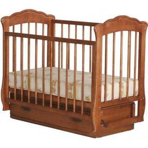 Кроватка Елена с ящиком (бук, орех)