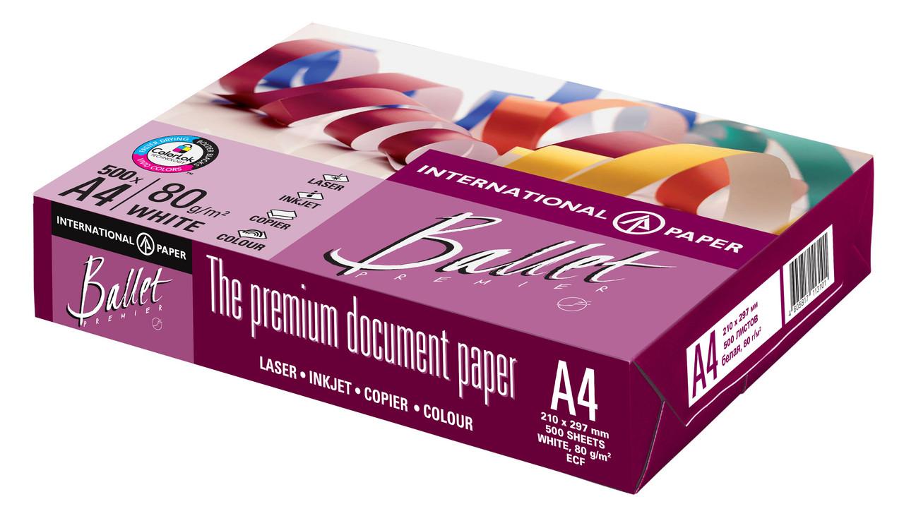 Бумага Ballet Premier A4, 80г / м2, 500л,CIE 161%, класс A