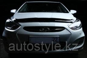Дефлектор капота Hyundai Accent 2011+ SIM