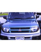 Защита фар Mitsubishi Pajero IO 1998- прозрачная