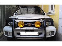 Защита фар Nissan Pathfinder (R50) 1999-2004 рестайлинг с чёрным рисунком