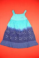 Сарафан для девочки сине-голубой