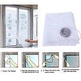 Москитная сетка на окно с самоклеящейся лентой для крепления , фото 2