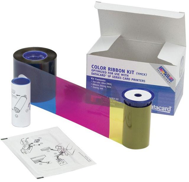 Набор для печати: лента YMCKT GO GREEN, чистящий ролик и карта Datacard 535000-002