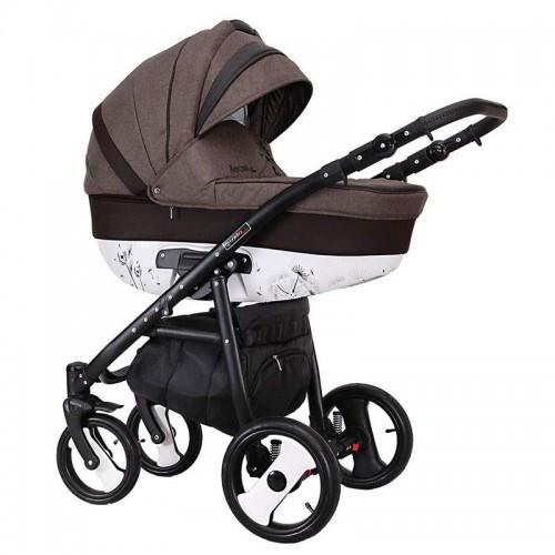 Детская универсальная коляска COLETTO SAVONA DECOR 2 В 1 (коричневая)
