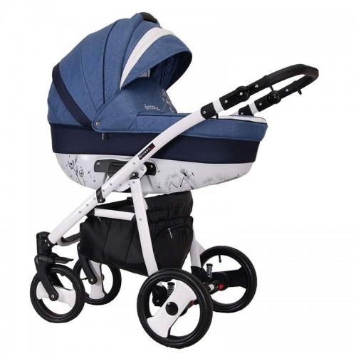 Детская универсальная коляска COLETTO SAVONA DECOR 2 В 1 (синяя)