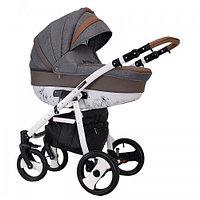 Детская универсальная коляска COLETTO SAVONA DECOR 2 В 1 (серая с коричневым), фото 1
