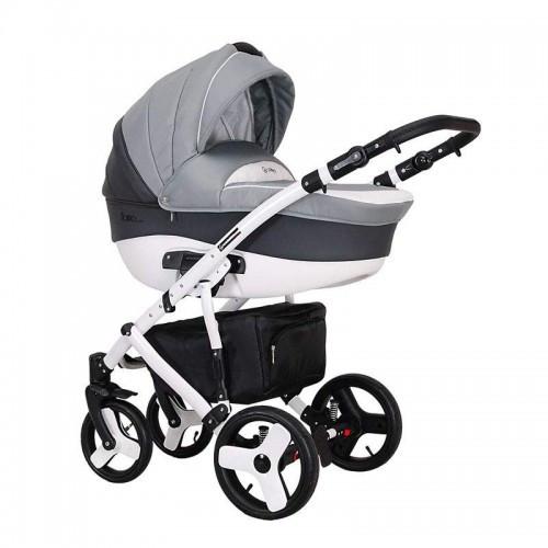 Детская универсальная коляска COLETTO Florino 2 В 1 (светло серый/темно серый)