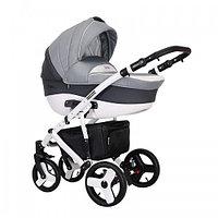 Детская универсальная коляска COLETTO Florino 2 В 1 (светло серый/темно серый), фото 1