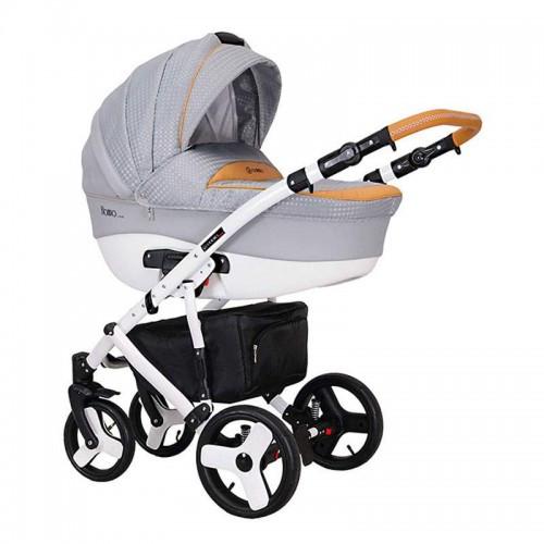 Детская универсальная коляска COLETTO Florino 2 В 1 (светло серый)