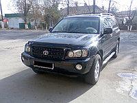 Защита фар Toyota Highlander 2001-2007 с чёрным рисунком