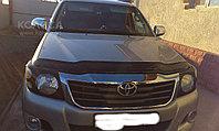 Защита фар Toyota HiLux 2011-2014 с чёрным рисунком