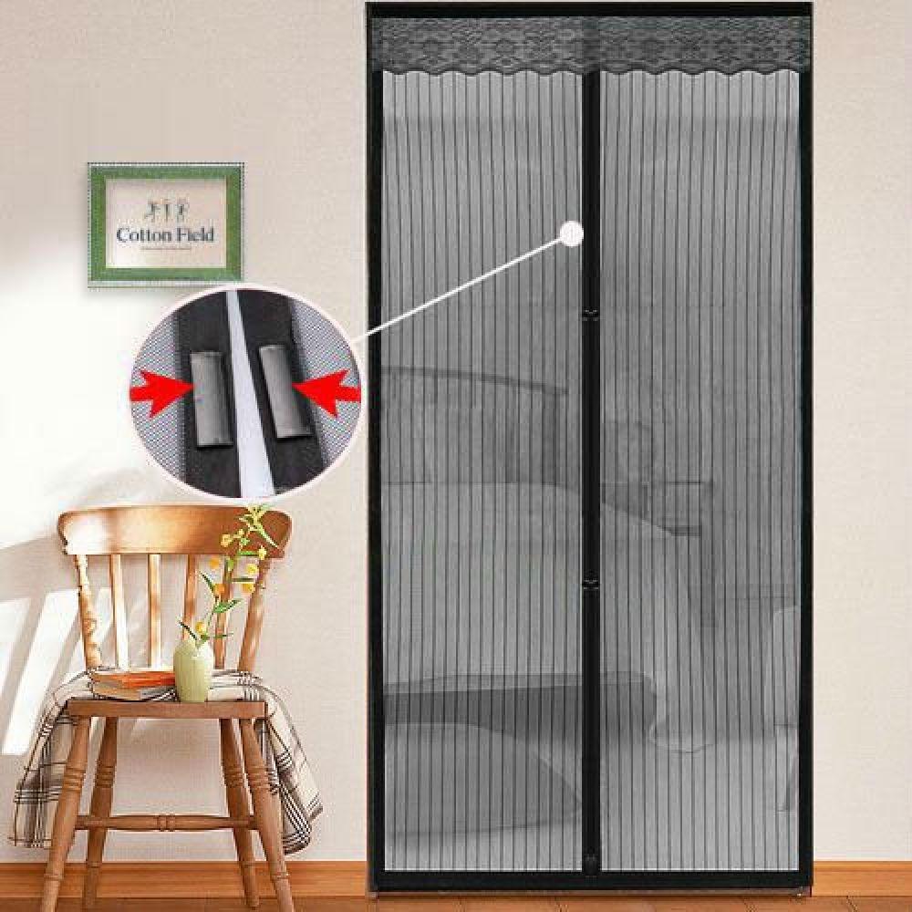 Магнитная противомоскитная сетка для окон и дверей 100 * 220 см (фиолетовая) - фото 2