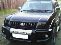 Защита фар Toyota Land Cruiser Prado 95 1996-2002 тёмная