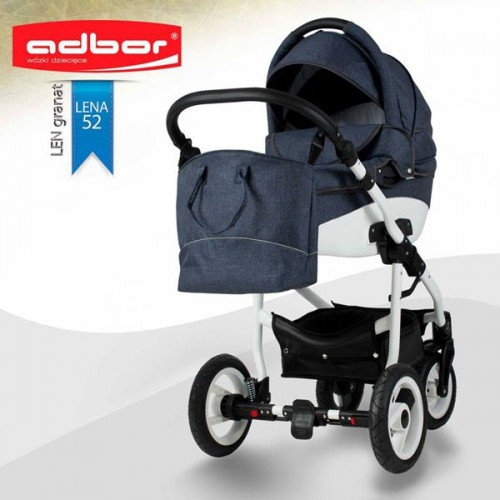 Детская универсальная коляска COLETTO  Adbor Nemo 2 В 1 (темно серая)