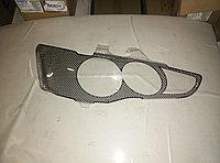 Защита фар Mitsubishi Lancer X 2007+ карбон