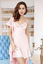 Женская атласная сорочка + халатик. Anabel Arto.