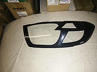Защита фар Toyota Highlander 2008-2010 с чёрным рисунком