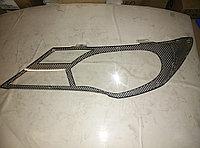 Защита фар Toyota RAV4 2013-2015 карбон
