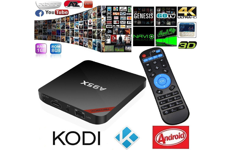 Android TV Box, Android 5,1 OTT NEXBOX A95X  1GB-8GB