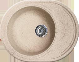 Кухонная раковина овальная Gran-Stone GS-18K  (570х445 мм.)