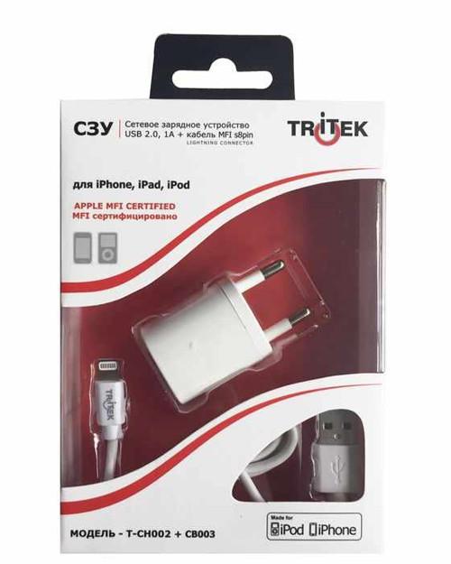 TRITEK T-CH002+CB003 зарядное устройство+кабель Apple