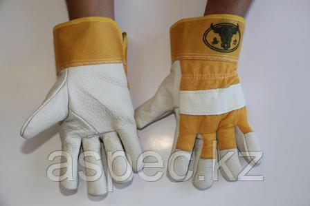 Перчатки кожаные комбинированные, фото 2