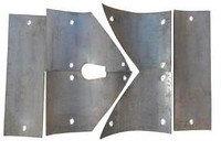 Комплект защитных пластин для Brinkmann, с большим центральным выходом, Hardox