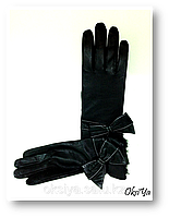 Перчатки женские кожаные на шерстяной подкладке